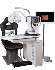 Ophthalmic stand and chair
